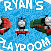 Thomas the Tank Engine Playroom Name Wall Decal