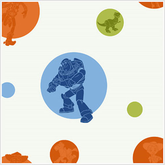 Toy Story Circles and Silhouettes Wallpaper - Wall Sticker Outlet