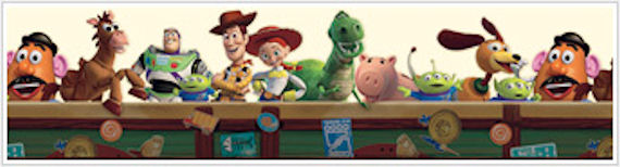 Toy Story Cream Prepasted Wallpaper Border - Wall Sticker Outlet