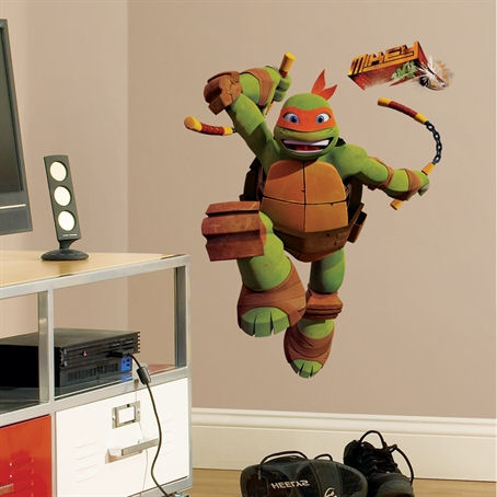 Teenage Mutant Ninja Turtles Michelangelo Decal - Wall Sticker Outlet