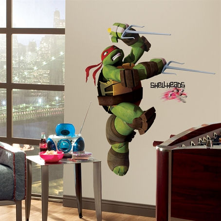 Teenage Mutant Ninja Turtles Raphael Wall Decal - Wall Sticker Outlet