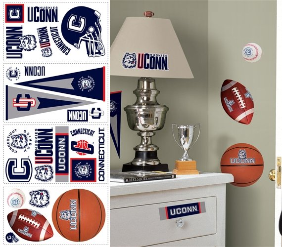 University of Connecticut Peel and Stick Appliques - Kids Wall Decor Store