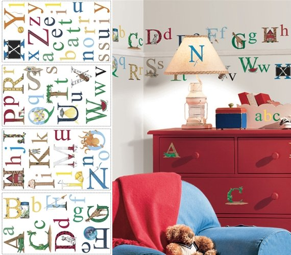 Alphabet Appliques - Wall Sticker Outlet