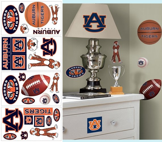 Auburn University Tigers Appliques - Kids Wall Decor Store