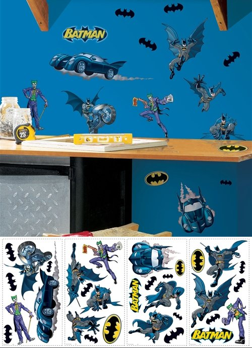 Batman Gotham Guardian Peel and Stick Appliques - Kids Wall Decor Store