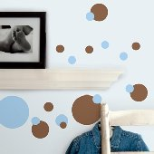 Blue and Brown Dots Peel and Stick Decals
