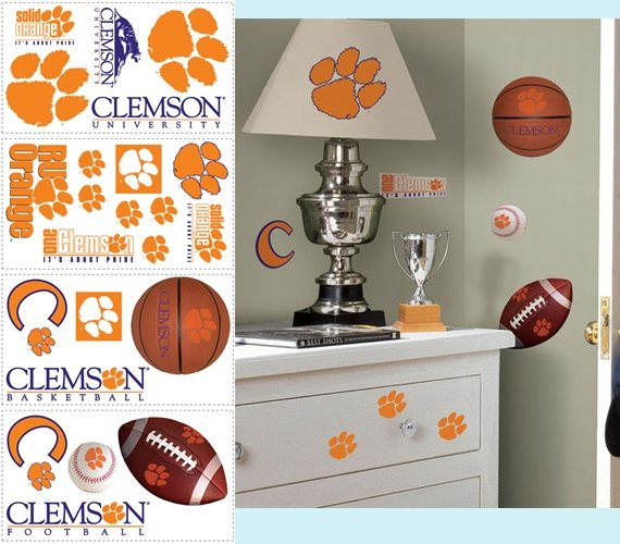 Clemson University Tigers Appliques - Kids Wall Decor Store