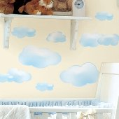 Clouds Peel and Stick Appliques