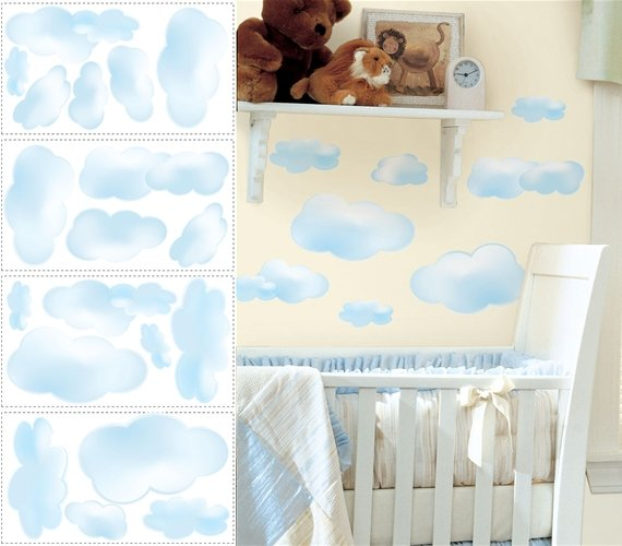 Clouds Peel and Stick Appliques - Wall Sticker Outlet