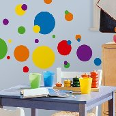 Colorful Dots Peel and Stick Appliques