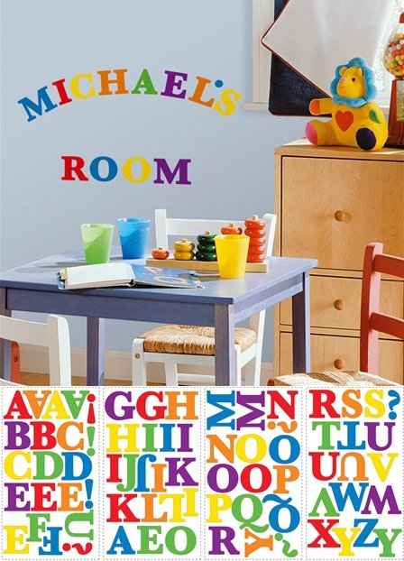 Colorful Letters Peel and Stick Appliques - Wall Sticker Outlet
