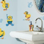 Ducks and Bubbles Peel and Stick Appliques