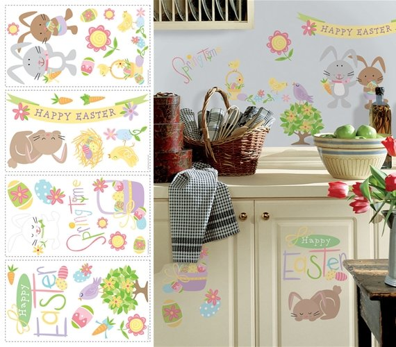 Easter Peel and Stick Appliques - Wall Sticker Outlet