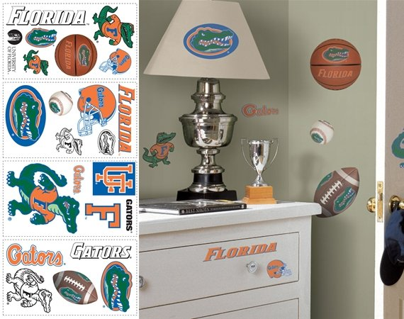 Florida Gators Peel and Stick Appliques - Kids Wall Decor Store
