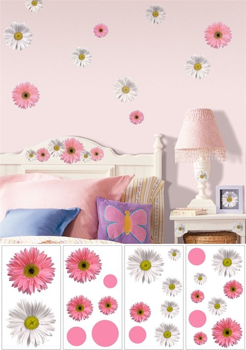 Flower Power Peel and Stick Appliques - Kids Wall Decor Store
