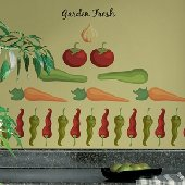 Garden Fresh Peel and Stick Appliques SALE