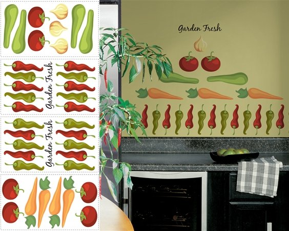 Garden Fresh Peel and Stick Appliques SALE - Wall Sticker Outlet