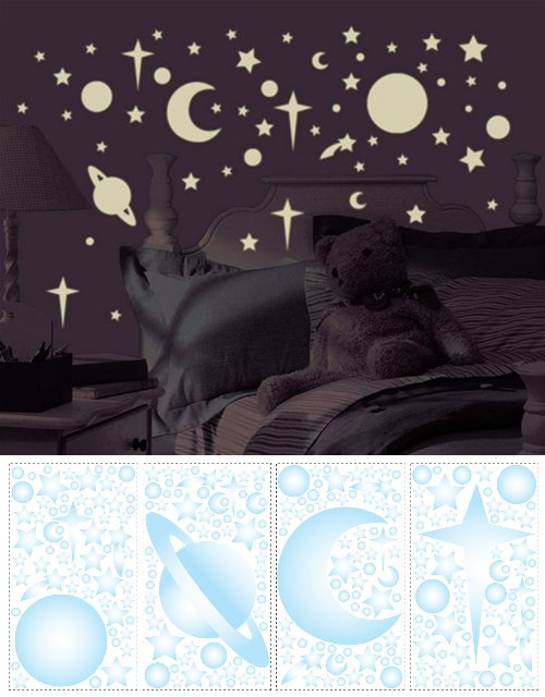 Celestial Glow In The Dark Appliques - Kids Wall Decor Store