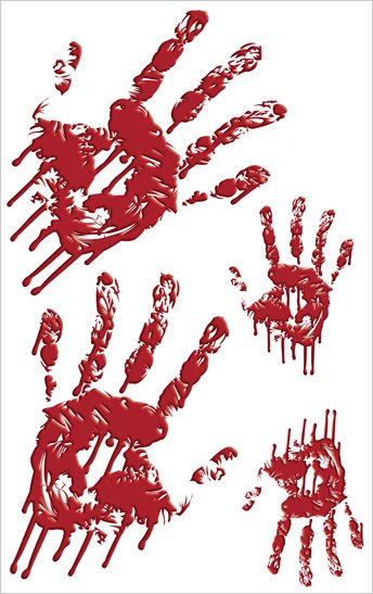 Bloody Handprints Halloween Appliques Sale