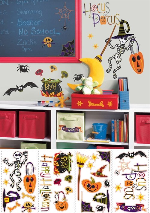 Halloween Peel and Stick  Appliques  - Wall Sticker Outlet