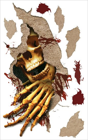 Skull Halloween Applique SALE - Wall Sticker Outlet