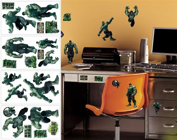SALE Incredible Hulk Peel and Stick Appliques - Wall Sticker Outlet