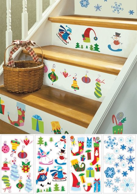 Let it Snow Peel and Stick Appliques  - Wall Sticker Outlet