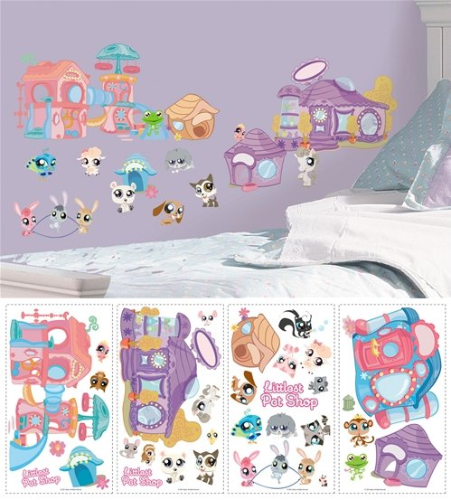 Littlest Pet Shop Peel And Stick Appliques SALE   Wall Sticker Outlet Nice Design