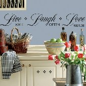 Live Laugh Love Peel and Stick Appliques