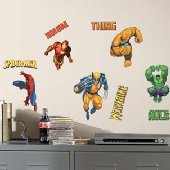 Marvel Heroes Peel and Stick Appliques