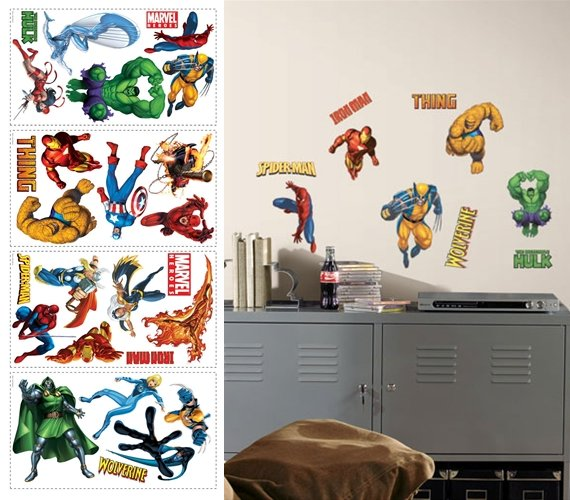 Marvel Heroes Peel and Stick Appliques - Wall Sticker Outlet  sc 1 st  Wall Sticker Outlet & Marvel Heroes Peel and Stick Appliques