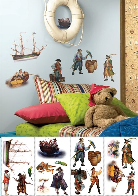 Pirates Peel and Stick Appliques - Kids Wall Decor Store