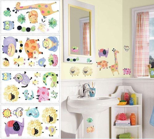 Polka Dot Piggy Appliques - Kids Wall Decor Store