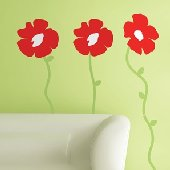 Poppies Peel and Stick Appliques