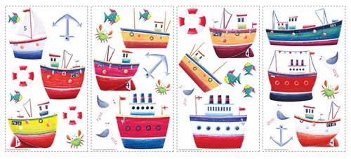 Ship Shape Peel and Stick Appliques - Kids Wall Decor Store