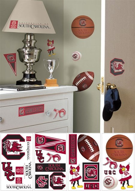 South Carolina Gamecocks Appliques - Kids Wall Decor Store