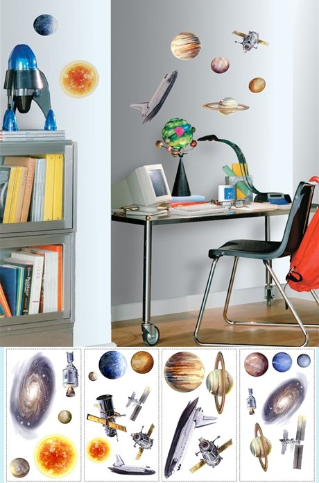 Space Travel Peel and Stick Appliques - Wall Sticker Outlet