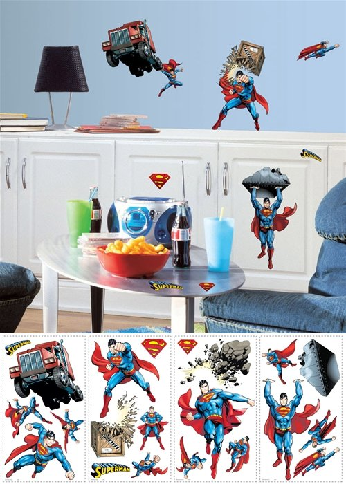 Superman Day of Doom Peel and Stick Appliques - Wall Sticker Outlet