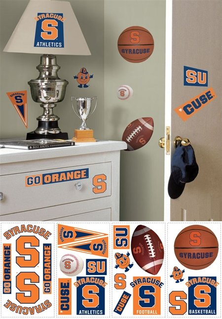 Syracuse Orange Peel and Stick Appliques - Kids Wall Decor Store