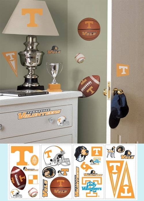 Tennesee Volunteers Peel and Stick Appliques - Kids Wall Decor Store