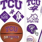 Texas Christian Horned Frogs Appliques