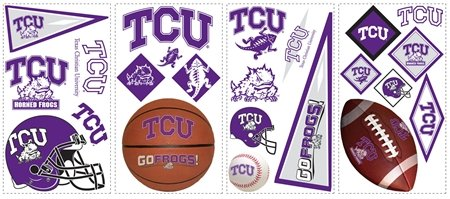 Texas Christian Horned Frogs Appliques - Kids Wall Decor Store