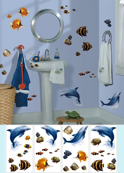 Under The Sea Peel and Stick Appliques - Kids Wall Decor Store
