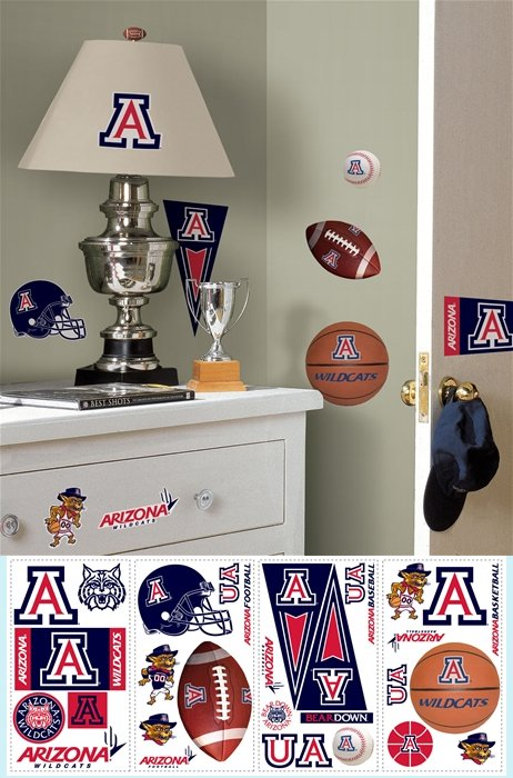 The University of Arizona Appliques - Kids Wall Decor Store