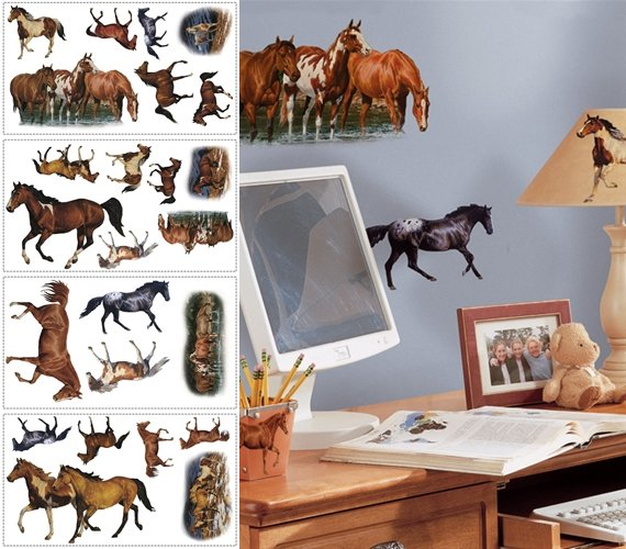 Wild Horses Peel and Stick Appliques - Wall Sticker Outlet
