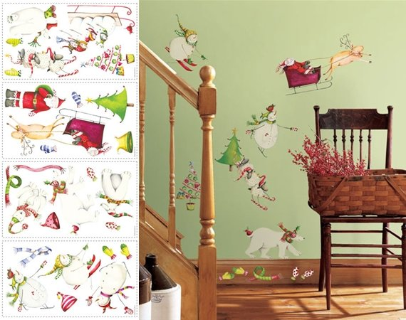 Winter Holiday Christmas Appliques  - Wall Sticker Outlet
