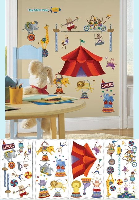 Big Top Circus Wall Stickers - Kids Wall Decor Store