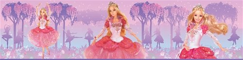 Barbie Princess Wall Border - Wall Sticker Outlet