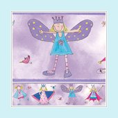 Fairy Princess Peel and Stick Wall Border