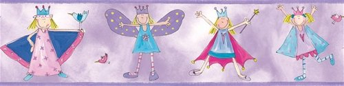 Fairy Princess Peel and Stick Wall Border - Wall Sticker Outlet